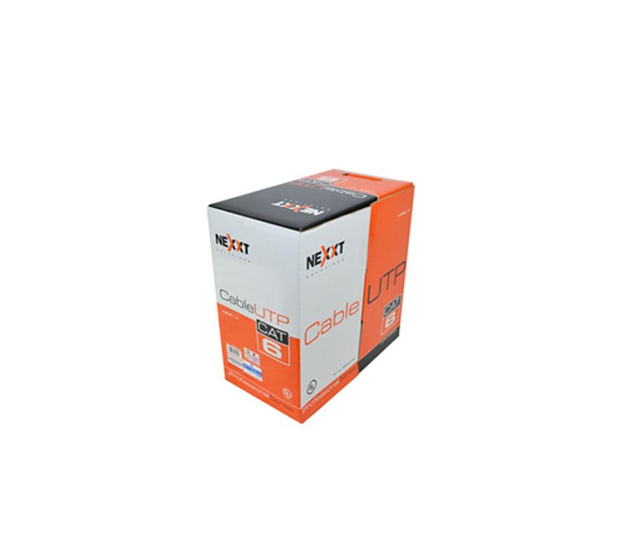 Rollo de cable utp nexxt cat 6 1000 pies gris for Cable ethernet categoria 6