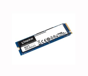 DISCO DE ESTADO SOLIDO KINGSTON 500GB, NV1, M.2, 2280 SSD PCIE NVME, VELOCIDAD DE LECTURA 2,100 MB Y ESCRITURA 1,700 MB