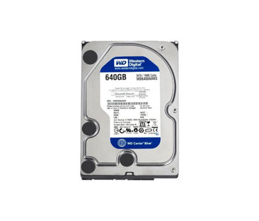 DISCO DURO 640GB INTERNO WESTERN DIGITAL SATA 3.0GB/S 3.5, 7200RMP/16MB.