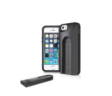 ILUV SELFY CASE WITH BUILT - IN WIRELESS CAMERA SHUTTER FOR APPLE IPHONE 5S / IPHONE 5 - CARRYING CASE.