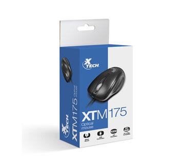 MOUSE XTECH OPTICAL SCROLL USB NEGRO (XTM-175)