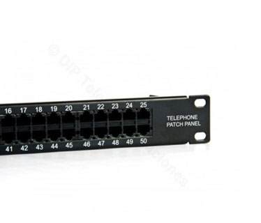 PATCH PANEL CAT5E 50 PUERTOS GENERICO 10 / 100 (Gen-50P - PP).