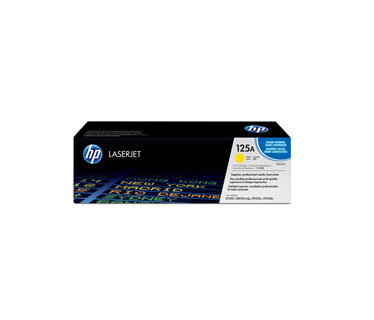 TONER HP 125A CB542A GENUINE AMARILLO 14K CP1215 CP1518IN CP1515N - 1400 PAGES