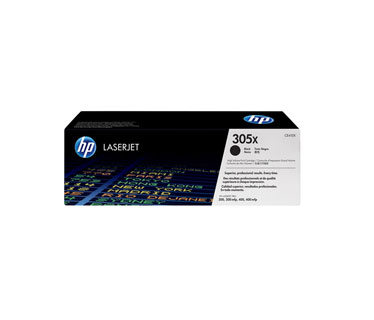 TONER HP 305X - CE410X - toner cartridge - 1 x black - 4000 pages - for LaserJet Pro 300 color M351a, 300 color MFP M375nw, 400 color M451, 400 color MFP M475