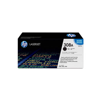TONER HP 308A - Q2670A - TONER CARTRIDGE - 1 X BLACK - 6000 PAGES - FOR COLOR LASERJET 3500, 3500N, 3550, 3550N