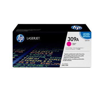 TONER HP 309A - Q2673A - TONER CARTRIDGE - 1 X MAGENTA - 4000 PAGES - FOR COLOR LASERJET 3500, 3500N, 3550, 3550N
