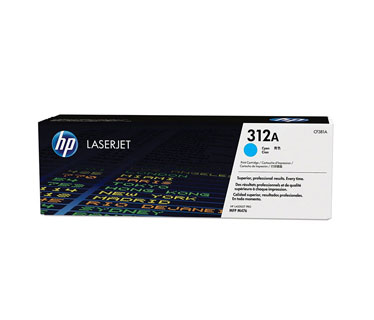 TONER HP 312A - TONER CARTRIDGE -CF381A 1 X CYAN - 2700 PAGES - FOR COLOR LASERJET PRO MFP M476NW, M476DN Y M476DW