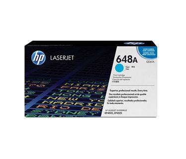TONER HP 648A - CE261A - toner cartridge - 1 x cyan - 11000 pages - for Color LaserJet Enterprise CP4025dn, CP4025n, CP4525dn, CP4525n, CP4525xh
