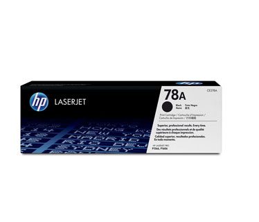 TONER HP CE278A LASERJET 78A BLACK PRINT CARTRIDGE