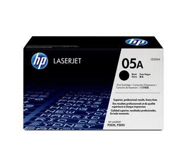 TONER HP CE505A - TONER CARTRIDGE - 1 X BLACK - 2300 PAGES PARA LJ P2035/P2055 SERIES