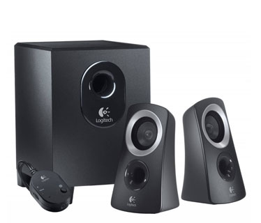 BOCINA LOGITECH Z313 2.1CHANNEL 25 WATTS SPEAKER SYSTEM - BLACK.