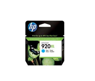 CARTUCHO HP 920XL CIAN HIGH CAPACITY INK CARTRIDGE - CD972A COMPATIBLE CON OFFICEJET 6000, 6500A Y 7500A 6ML.