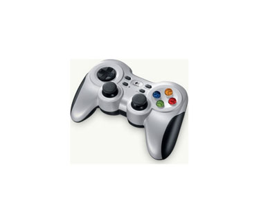 GAMEPAD LOGITECH F710 2.4 GHZ WIRELESS, VIBRATION ON / OFF BUTTON, 2 AA BATTERIES.