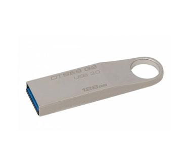 MEMORIA USB 128GB 3.0 KINGSTON, DATA TRAVELER SE9 G2, PLATEADO.