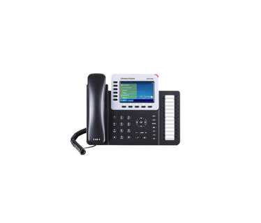 TELEFONO IP GRANDSTREAM GXP-2160, 6 CUENTAS SIP, 2 PUERTOS ETHERNET GIGABIT CON POE INTEGRADO, BLUETOOTH INTEGRADO, USB, CONECTOR RJ9 PARA AUDÍFONOS, CODEC DE VOZ G.711,G.722 (BANDA ANCHA), G.729NB, G.726, 1LBC, DTMF EN BANDA Y FUERA DE BANDA (EN AUDIO, RFC2833, SIP INFO), 24 TECLAS BLF DE DISCADO RÁPIDO, 12 V, 1,0 A, ADAPTADOR A/C INCLUIDO
