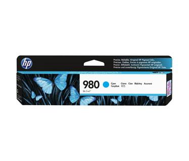 CARTUCHO HP 980 CYAN D8J07A, RINDE 6,600 PAGINAS, COMPATIBLE CON IMPRESORAS X555 Y X585.