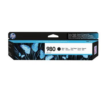 CARTUCHO HP 980 NEGRO D8J10A, RINDE 10,000 PAGINAS, COMPATIBLE CON IMPRESORAS X555 Y X585.