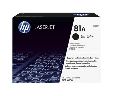 TONER HP 81A - TONER CARTRIDGE - 1 X BLACK - 10500 PAGES - FOR LASERJET ENTERPRISE M630F - M630Z - M604DN - M605DN - M605N - M605X - M606DN.