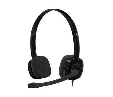 AUDIFONO HEADSET CON MICROFONO LOGITECH H151 STEREO HEADSET, 3.5