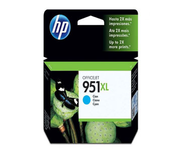 CARTUCHO HP 951XL - PRINT CARTRIDGE - 1 X PIGMENTED CYAN ALTO RENDIMIENTO HP BUSINESS INKJET AND OFFICEJET PRO PRINTERS8100 - N811AHP MULTIFUNCTION AND ALL-IN-ONE PRODUCTS8600 - A911A, 8600 PLUS - N911G, 8600 PREMIUM - N911N.