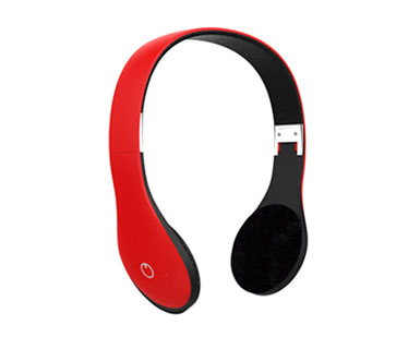 AUDIFONO HEADSET AGILER, BLUETOOTH CON TF CARD, FM, ROJO.