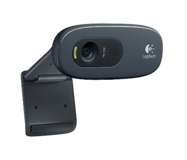 CAMARA WEB LOGITECH C270 - USB 2.0 3.0 MP, MICRÓFONO INTEGRADO, IDEAL PARA VIDEO CONFERENCIAS CLIP PARA MONITOR PLANO. (960-000694)