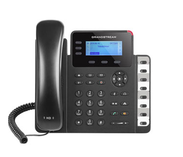 TELEFONO IP GRANDSTREAM GXP-1630 SMALL-MEDIUM BUSINESS HD IP PHONE 3 LINES WITH 3 SIP ACCOUNT, 132X40 GRAPHICAL LCD, 3 XML PROGRAMMABLE CONTEXT-SENSITIVE, 10/100/1000 GBPS MBPS POE, 3-WAY CONFERENCE.