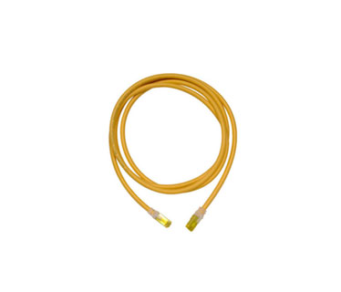 PATCH CABLE ORTRONICS, CAT6A, 7 PIES, AMARILLO. CLARITY 10G MODULAR.