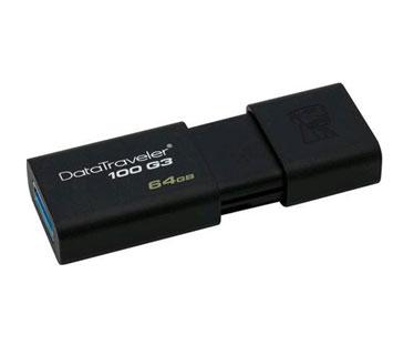 MEMORIA USB 64GB 3.0 KINGSTON, DATA TRAVELER 100 G3