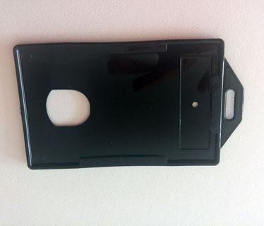 Portacarnet negro