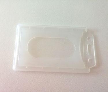 Portacarnet transparente