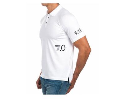 Tshirt dry fill con cuello vinyl blanco
