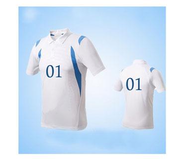 Tshirt dry fill con cuello vinyl blanco con 2 impresiones