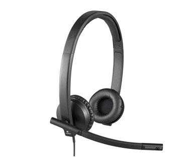 AUDIFONO HEADSET CON MICROFONO LOGITECH H570E, USB, ESTEREO CON ALMOHADILLAS DE PIEL, IDEAL PARA USO EMPRESARIAL (981-00574)