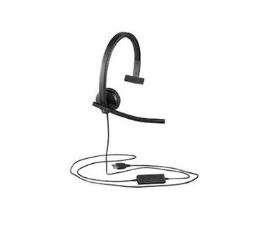 AUDIFONO HEADSET CON MICROFONO LOGITECH H570E, USB, MONOFONICO, CON ALMOHADILLAS DE PIEL, IDEAL PARA USO EMPRESARIAL (981-00570)