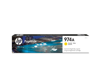 CARTUCHO HP 974 (L0R93AL) - PRINT CARTRIDGE - 1 X PIGMENTED YELLOW - 3,000 PAGES, HP PAGEWIDE PRO PRINTER 452DW (D3Q16C) - 577DW (D3Q21C) - 477DW (D3Q20C)