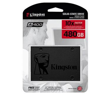 DISCO DE ESTADO SOLIDO KINGSTON 480GB, SATA3, SSD. (SA400S37/480G)