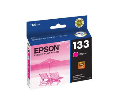 CARTUCHO EPSON MAGENTA 133 COMPATIBLE IMPRESORAS STYLUS T22 (T133320-AL)