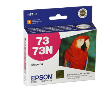 CARTUCHO EPSON MORADO 73N PARA IMPRESORAS STYLUS T30/T33/TX300F/T20/T21/T23/T24/TX100/TX105/TX110/TX115/TX200/TX210/TX220/TX400/TX410 (T073320-AL)