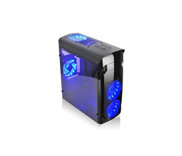 CASE AGILER GAMING ATX NEGRO CON PANEL TRANSPARENTE LATERAL, 4 ABANICOS 120MM LED AZUL, NO INCLUYE POWER SUPPLY (AGI-C010)