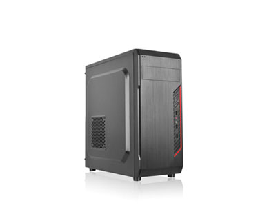 CASE AGILER GAMING ATX NEGRO CON PANEL TRANSPARENTE LATERAL, 4 ABANICOS 120MM NEGRO, NO INCLUYE POWER SUPPLY (AGI-C011)
