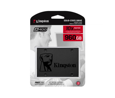 DISCO DE ESTADO SOLIDO KINGSTON 960GB, A400, SATA3, SSD (SA400S37/960G)