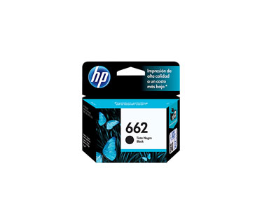 CARTUCHO HP 662 - PRINT CARTRIDGE - 1 X PIGMENTED BLACK - 120 PAGES, DESKJET INK ADVANTAGE 2515, DJ 3515, 3545, 2545, 1515
