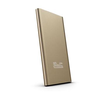 CARGADOR MOVIL KLIPX (POWER BANK), BACKUP BATTERY, 3700MAH, SLIM, USB OUTPUT 5V/2.1A, DORADO (KBH-140GD)