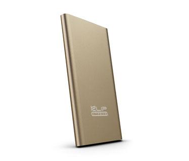 CARGADOR MOVIL KLIPX (POWER BANK), BACKUP BATTERY, 5000MAH, SLIM, USB OUTPUT 5V/2.1A, DORADO (KBH-155GD)