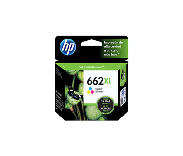 CARTUCHO HP 662XL - PRINT CARTRIDGE - 1 X TRICOLOR - 300 PAGES - FOR DESKJET INK ADVANTAGE 2515, DJ 3515, 3545
