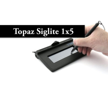 LECTOR DE FIRMA TOPAZ SIGLITE, 1X5 LCD, PAD RESOLUTION 410 PPI