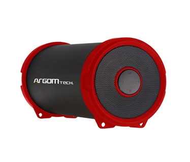 BOCINA ARGOM BLUETOOTH, 6W, BAZOOKA AIR SPEAKER HIFI INDOOR/OUTDOOR WIRELESS SPEAKER, RED