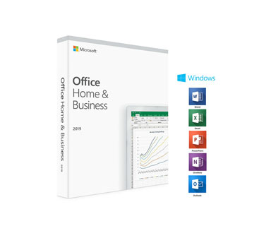 MICROSOFT OFFICE HOME AND BUSINESS 2019 32/64 INGLES, CAJA.
