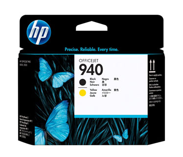 CARTUCHO HP 940 CABEZAL NEGRO/AMARILLO C4900A (HP BUSINESS INKJET AND OFFICEJET PRO PRINTERS8000, 8000 WIRELESSHP MULTIFUNCTION AND ALL-IN-ONE PRODUCTS8500, 8500 WIRELESS, 8500 PREMIER)